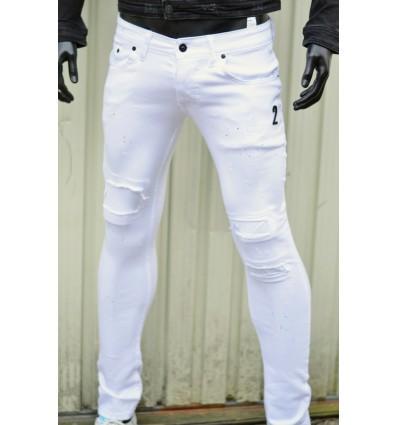Pantalon jean Zoom Flight Blanc