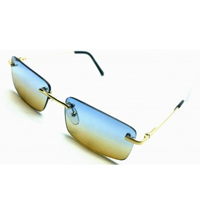 Lunette de Soleil ZOOM FLIGHT Cartier teinter bleu jaune