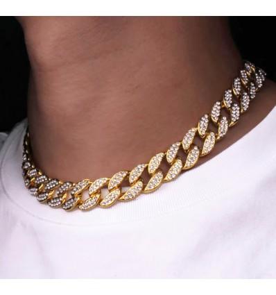 Chaîne diamant or