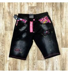 Short jean Zoom Flight noir rose